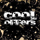 Cool offers grunge background Royalty Free Stock Images