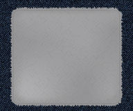 A cool patchwork as Blue Jeans Element template. Vector Patch, Fragments. Stock Image