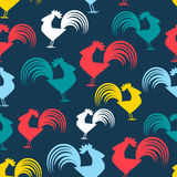 Cool pattern with cocks Royalty Free Stock Photography