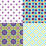 Cool Patterns Retro Flower Boxes Stock Photo