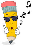 Cool Pencil Whistling with Sunglasses Stock Images
