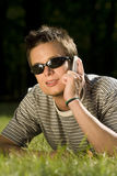 Cool Phone Call royalty free stock photo