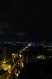 Cool photo of Quito at night showing parts of the Royalty Free Stock Images