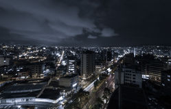 Cool photo of Quito at night showing parts of the Royalty Free Stock Photos
