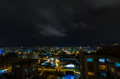 Cool photo of Quito at night showing parts of the Stock Photography