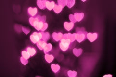 Cool pink heart lights out of focus Stock Photos