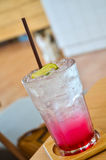 Cool pink lemon soda menu Royalty Free Stock Image