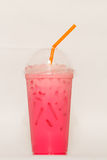 Cool pink milk Stock Photography