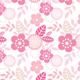 Funky Flowers pattern Stock Images
