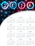 Cool 2014 plasma calendar Royalty Free Stock Photo
