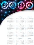 Cool 2014 plasma calendar Royalty Free Stock Photo