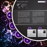 Cool plasma website template design Stock Images