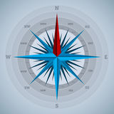 Cool 32 point compass design Stock Images