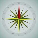 Cool 16 point compass design Stock Photos