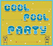 Cool Pool Party. Funny invitation Royalty Free Stock Images