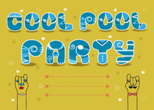 Cool Pool Party, Invitation card Royalty Free Stock Photo