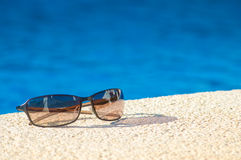Cool poolside shades Stock Image