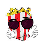 Cool Pop corn cartoon Royalty Free Stock Image