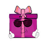 Cool present box cartoon Royalty Free Stock Photos