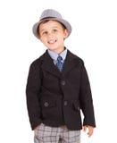 Cool pretty stylish little boy Royalty Free Stock Photography