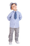 Cool pretty stylish little boy isolated Royalty Free Stock Images
