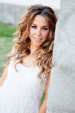 Cool pretty woman with a beautiful smile Stock Images