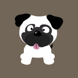 Cool Pug. An illustration of a cute pug Royalty Free Stock Photos
