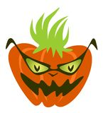 Cool pumpkin. In sunglasses and with a fashionable hairdress Royalty Free Stock Photo