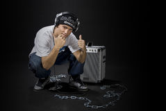 Cool Rapper stock image