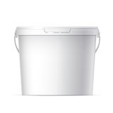 Cool Realistic White plastic bucket. Vector Stock Photography