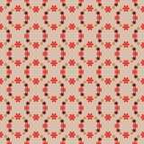 Cool red blossom circles  pattern  Royalty Free Stock Image