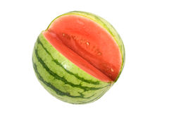 Cool Red Personal Watermelon Stock Photos