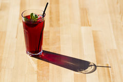 Cool red tea with mint and ice. Stock Photography