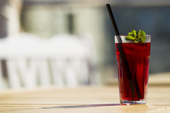 Cool red tea with mint and ice. Stock Images