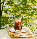 Cool refreshing drink on the background of nature Stock Photo