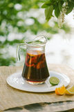 Cool refreshing drink on the background of nature Stock Image