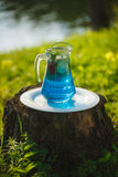 Cool refreshing drink on the background of nature Stock Images