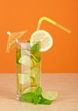 Cool refreshing drink in a glass Royalty Free Stock Photos