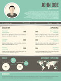 Cool resume cv design with dark and light contrast Royalty Free Stock Photography
