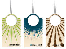 Cool retro design hanging label set Stock Photography