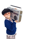 Cool retro kid Stock Images