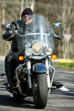 Cool rider on a chopper stock images