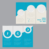 Cool ring design tri-fold brochure template Stock Photos
