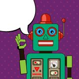 Cool Robot showing OK sign. Pop art poster Stock Photography