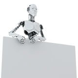 Cool robotic promoter Royalty Free Stock Images