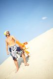 Cool sandboarder Royalty Free Stock Photo