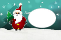 Cool Santa Claus Comic with sunglasses balloon Stock Images