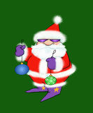 Cool Santa Claus With Ornaments Royalty Free Stock Photos