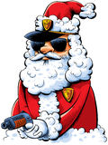 Cool Santa Cop Stock Photography