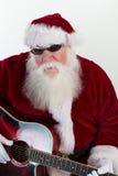 Cool Santa plays guitar Stock Image